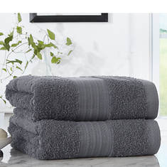 Pure Cotton 2-Pack Bath Towels