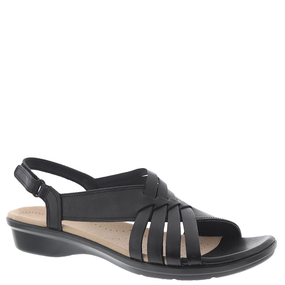 1950s Style Shoes | Heels, Flats, Saddle Shoes Clarks Loomis Cassey Womens Black Sandal 5.5 M $69.95 AT vintagedancer.com