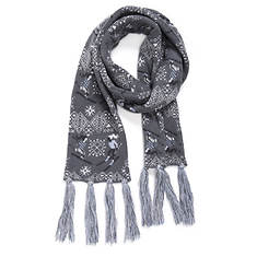 MUK LUKS Women's Snow Day Traditional Tassel Scarf