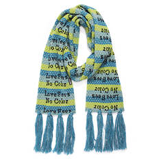 MUK LUKS Women's Love Yourself Traditional Tassel Scarf