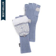 MUK LUKS Women's Snow Day Long Flip Mittens
