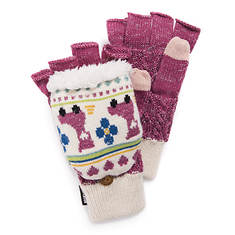 MUK LUKS Women's Love Yourself Fingerless Flip Mittens