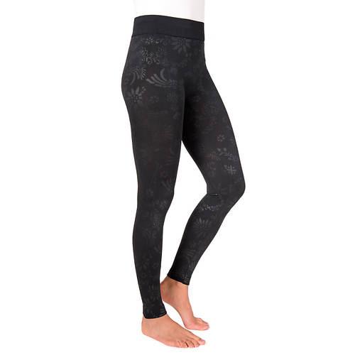 MUK LUKS Women's 1-Pair Embossed Leggings