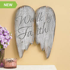 Wooden Angel Wings-Walk by Faith