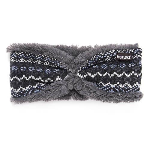 MUK LUKS Women's Snow Day Reversible Headband