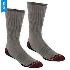 Timberland Men's Merino Full Cush Crew 2-Pack Socks