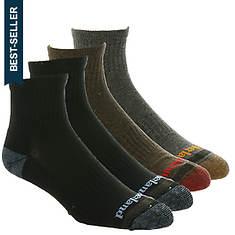Timberland Men's Comfort Quarter 4-Pack Socks