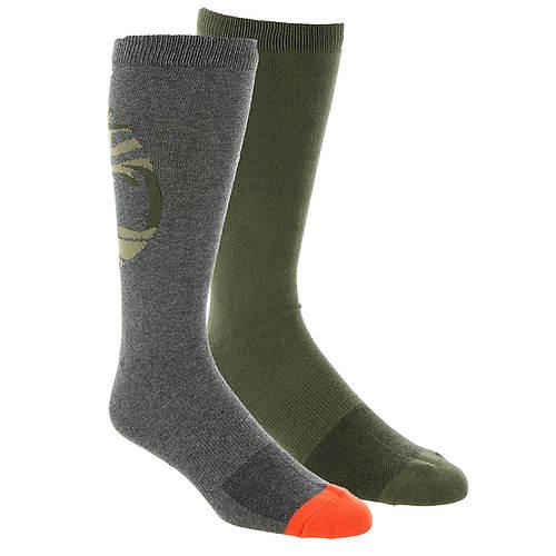 Timberland Men's Logo Pattern Crew 2-Pack Socks