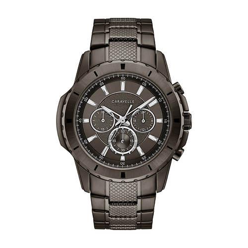 Caravelle By Bulova Gunmetal Chronograph Watch