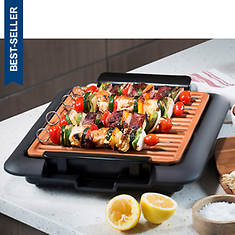 Gotham Steel Smokeless Electric Grill with Bonus Griddle Plate