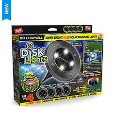Bell+Howell Solar Powered Disk Lights 4-Pack