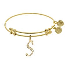Gold Initial Angelica Bangle