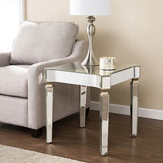 Roubaix Antique Mirrored End Table