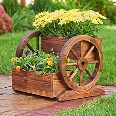 Wagon wheel 2-Tier Planter