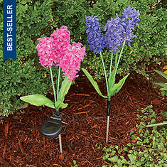 Solar Lighted Lilacs Set of 2