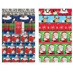 12-Sheet Christmas Wrapping Paper Assortment