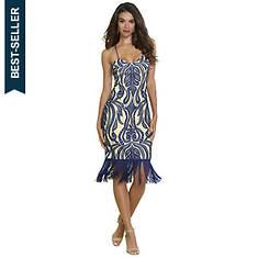 Lace Fringe Strappy Dress