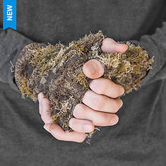 Quiet Wear Men's Fingerless Camo Grass Gloves