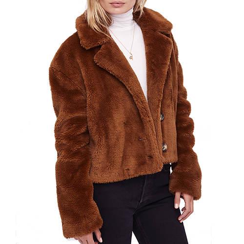 Free People Women's Mena Faux Fur Coat