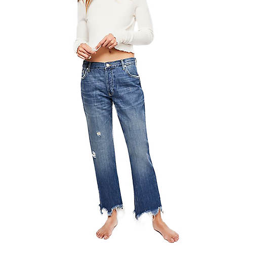 Free People Women's Jean Maggie MR Straight
