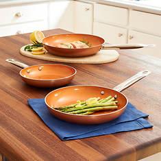 3-Pc. Copper Non-Stick Pans
