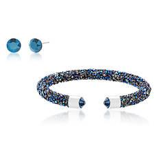 Crystal Stud Earring & Bangle Set