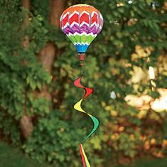 Rainbow Hot Air Balloon Wind Spinner