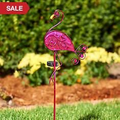 Solar Flamingo Garden Décor