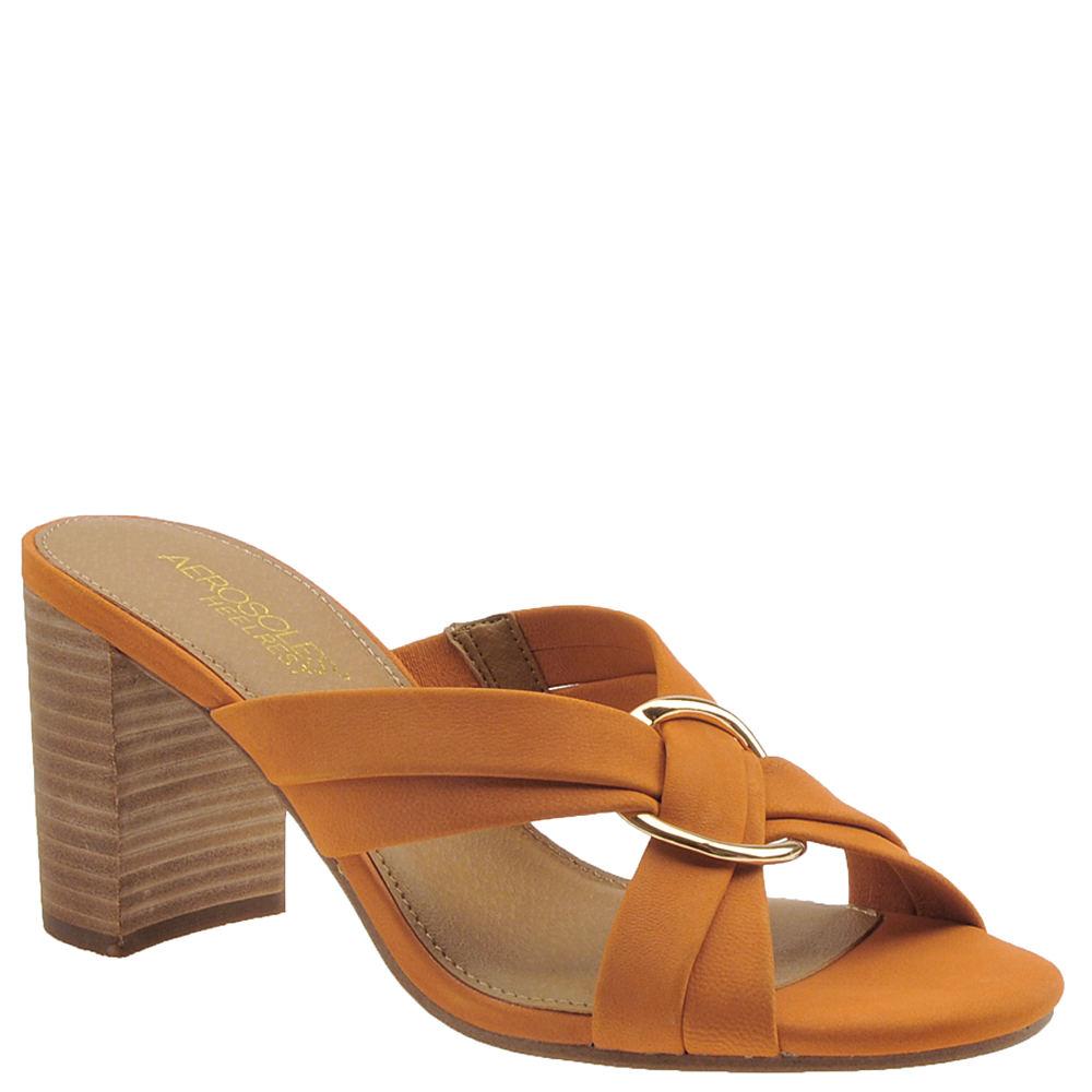 70s Clothes   Hippie Clothes & Outfits Aerosoles Highwater Womens Orange Sandal 7 M $98.95 AT vintagedancer.com