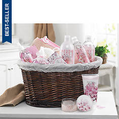 11-Piece Pink Cherry Blossom Bath Set