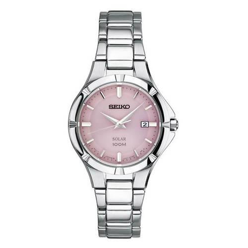 Seiko Solar Pink Dial Watch