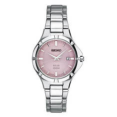 Seiko Solar Pink Dial Watch
