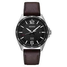 Seiko Solar Leather Strap Watch