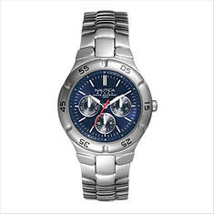 Nautica Stainless Steel Round Watch