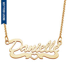 Personalized Open Heart Script Name Necklace