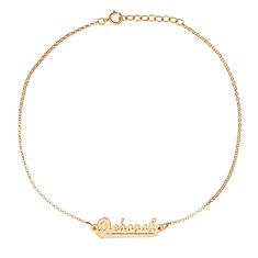 Personalized Script Name Anklet