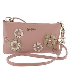 Jessica Simpson Rosalie Flower Clutch Crossbody Bag