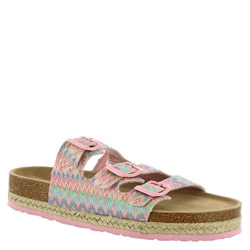 KensieGirl Chevron Footbed Sandal KG81140M (Girls' Toddler-Youth)