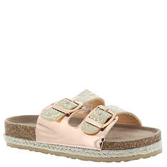 KensieGirl Metallic Footbed Sandal KG83289M (Girls' Toddler-Youth)