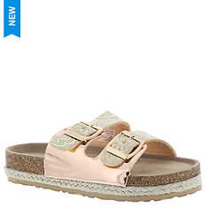 KensieGirl Metallic Footbed Sandal KG83289M (Girls' Toddler-Youth)