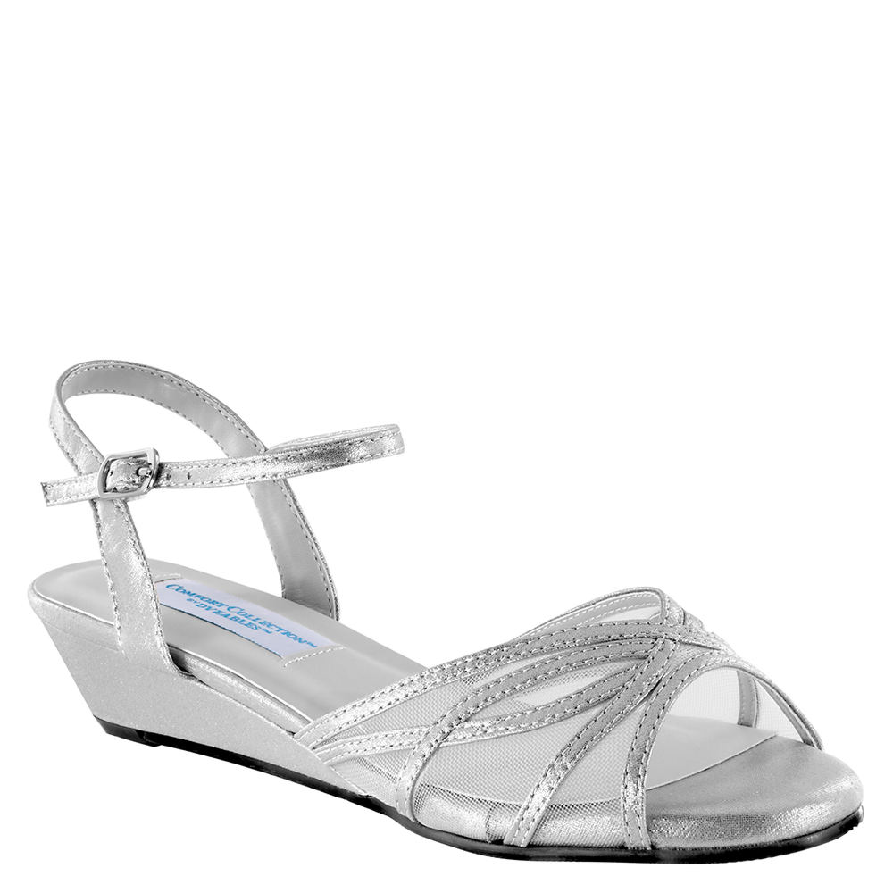 Vintage Inspired Wedding Dress | Vintage Style Wedding Dresses Dyeables Desi Womens Silver Sandal 10.5 M $69.95 AT vintagedancer.com
