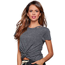 Cutout Twist-Front Tee
