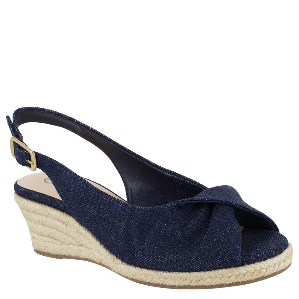 1940s Style Shoes, 40s Shoes Bella Vita Sylvie II Womens Blue Sandal 7 N $79.95 AT vintagedancer.com