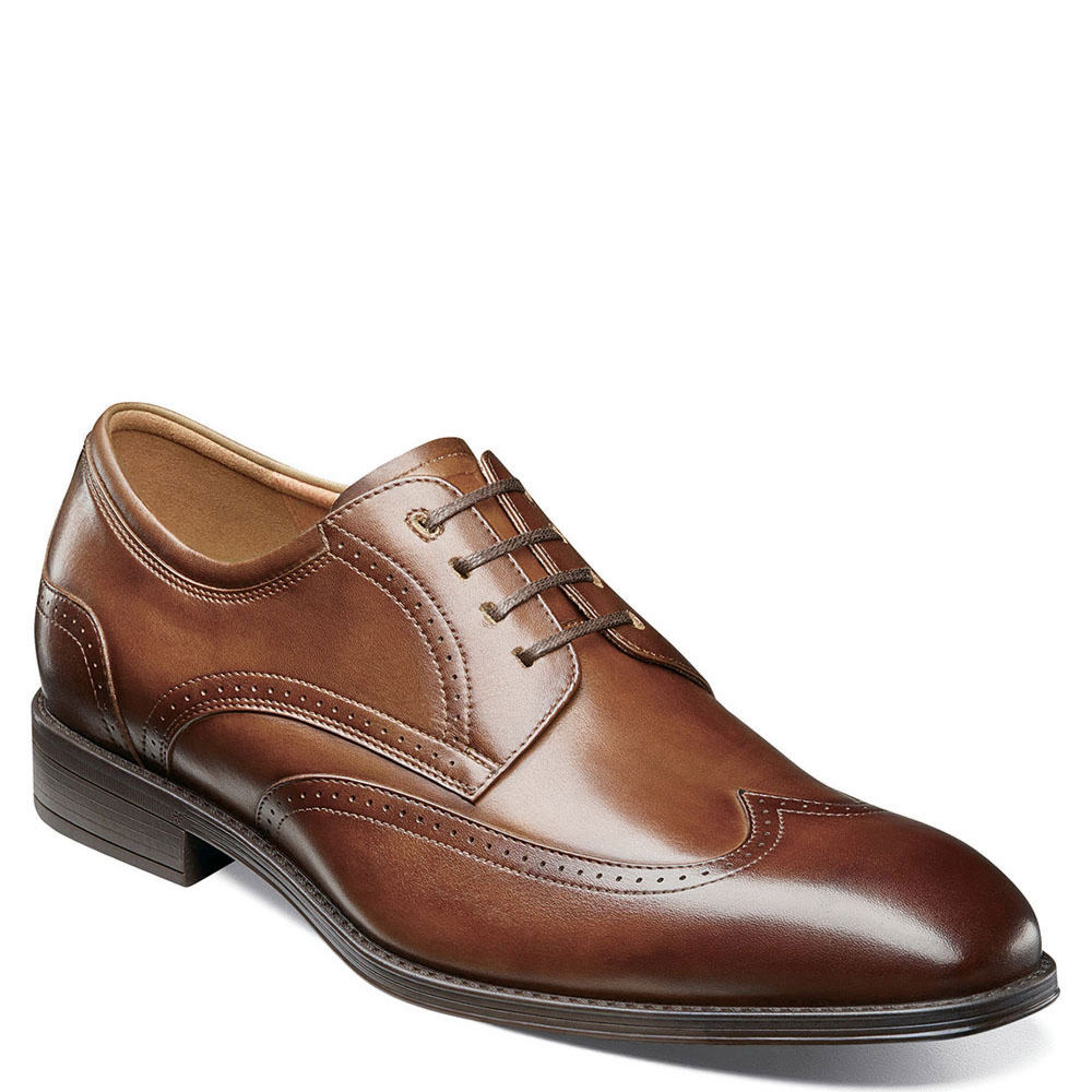 Men's Swing Dance Clothing to Keep You Cool Florsheim Amelio Wingtip Mens Brown Oxford 8 W $99.95 AT vintagedancer.com