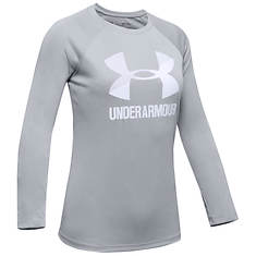 Under Armour Girl's Big Logo Long Sleeve