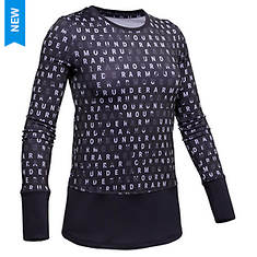 Under Armour Girls' Coldgear Novelty LS Crew