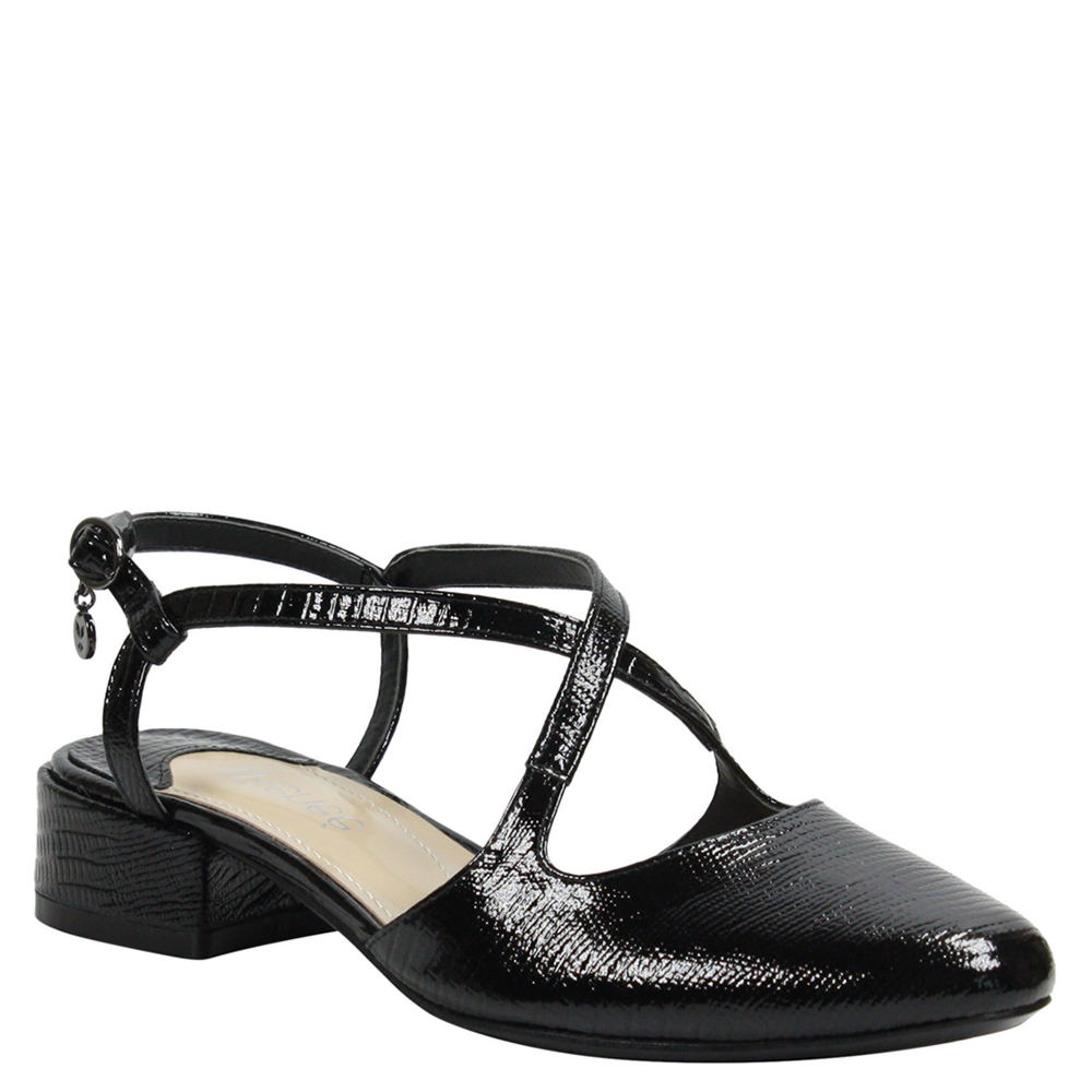 Retro Vintage Style Wide Shoes J. Renee Petara Womens Black Pump 5 M $69.99 AT vintagedancer.com