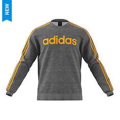 adidas Men's Ess 3-Stripe Fleece Crew