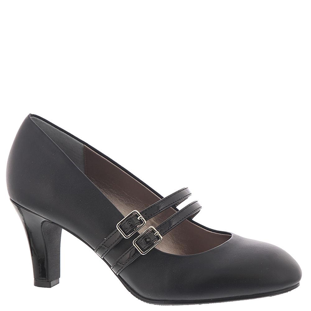 1950s Style Shoes | Heels, Flats, Boots ARRAY Roxanne Womens Black Pump 8.5 W $89.95 AT vintagedancer.com