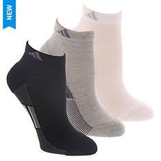 adidas Women's Climacool Superlite Stripe 3-Pack Lo Cut Socks